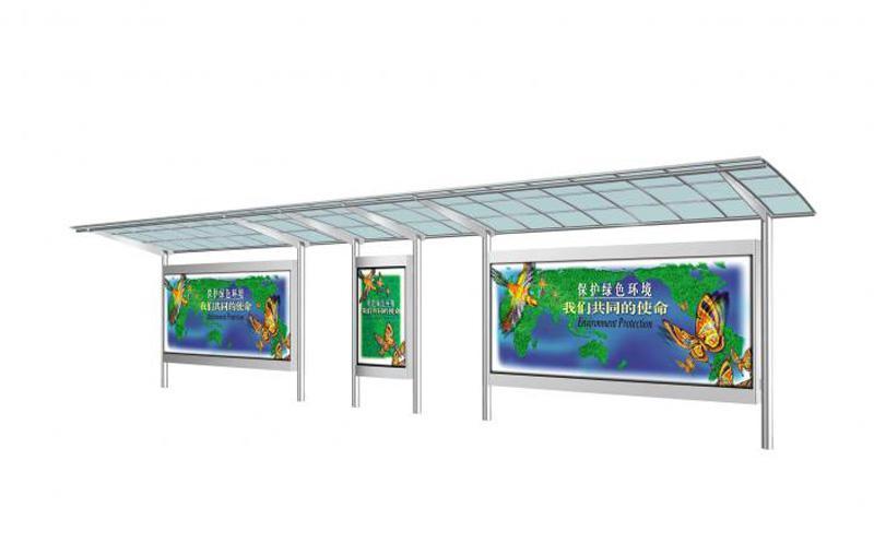 威海不锈钢公交站台图纸