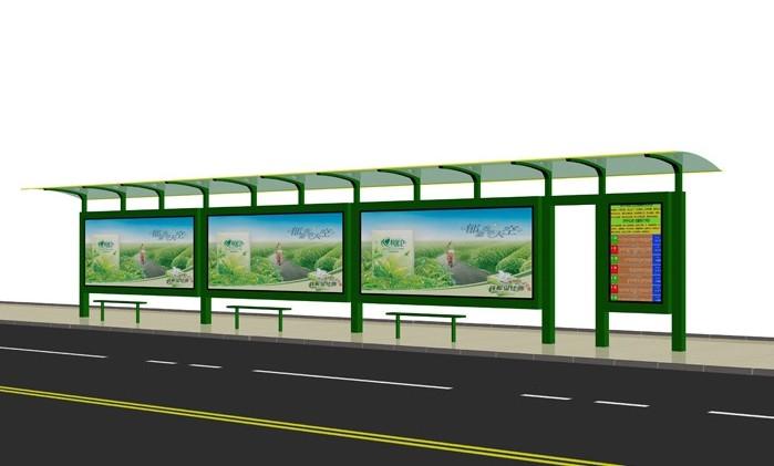 沧州不锈钢公交站台图纸