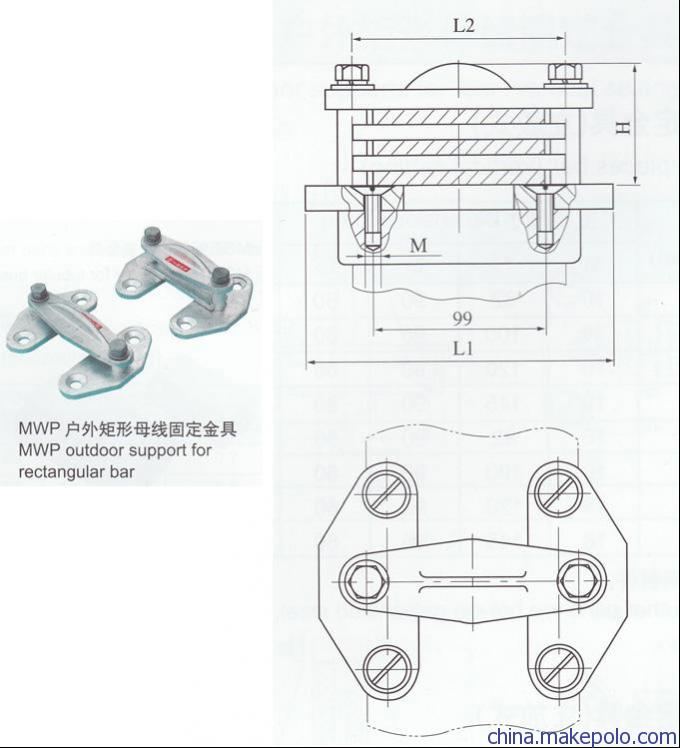 MNL-204铜(铝)母线夹具/供应商