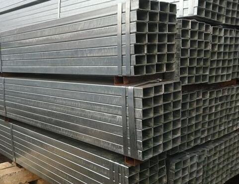 淄博130X130X6镀锌方管~电厂用Q345B方管喷砂打孔