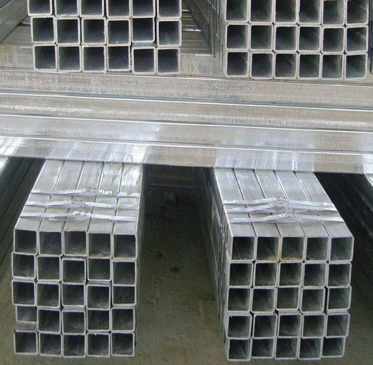 平度130X130X6镀锌方管~电厂用Q345B方管喷砂打孔
