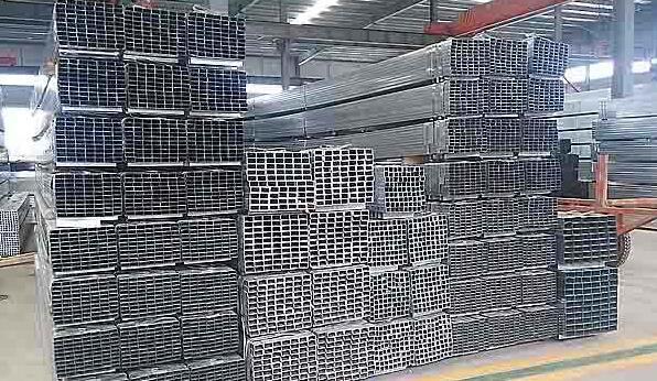 胶南130X130X6镀锌方管~电厂用Q345B方管喷砂打孔