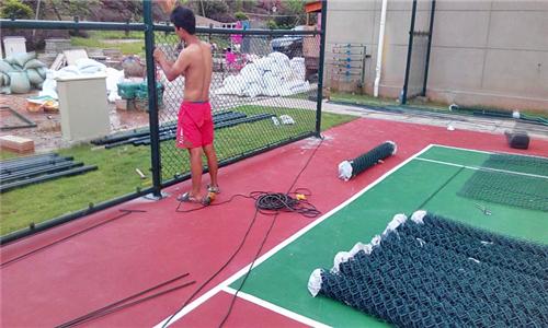 蜀山硅pu塑胶羽毛球场