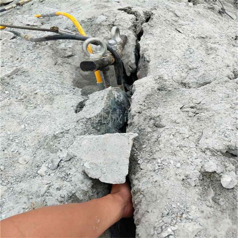 供应:黑龙江液压岩石劈裂棒 施工案例