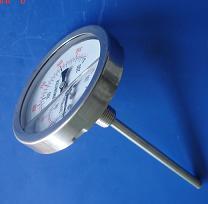 江门活动法兰轴向型电接点双金属温度计图片