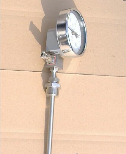 淮南活动法兰轴向型电接点双金属温度计直销