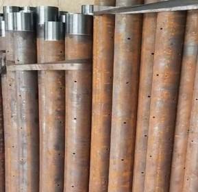 安徽省龍子湖熱軋小導管出尖  無縫車絲鋼花管  熱軋無縫小導管價格