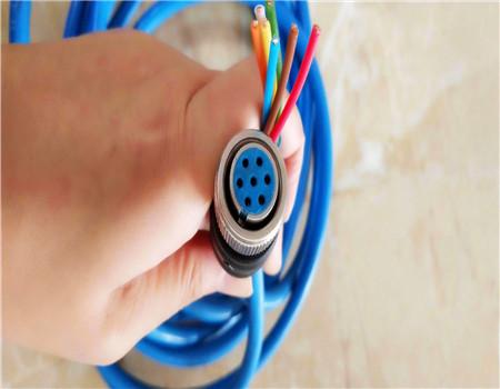 张家口带插头式七芯拉力通信电缆 可定尺加工