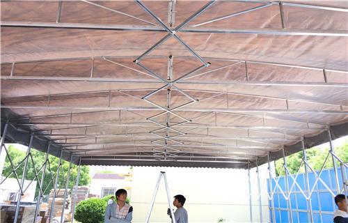 蚌埠移動遮陽棚安裝技巧