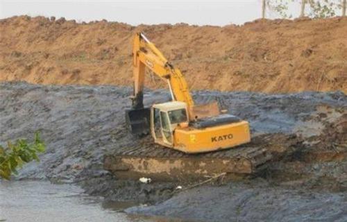 白河河道清淤挖掘机出租