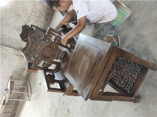 六盘水榆木卷书椅子圈椅厂家自己生产