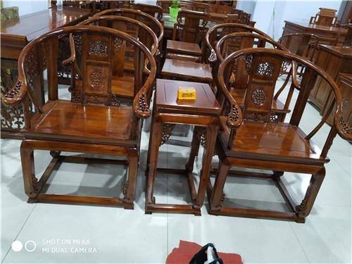 广安榆木卷书椅子圈椅批发全国配送
