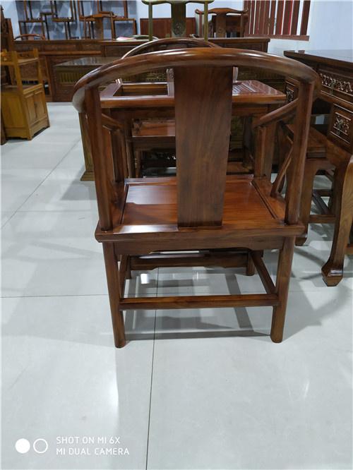 大庆榆木卷书椅子圈椅定做大量现货