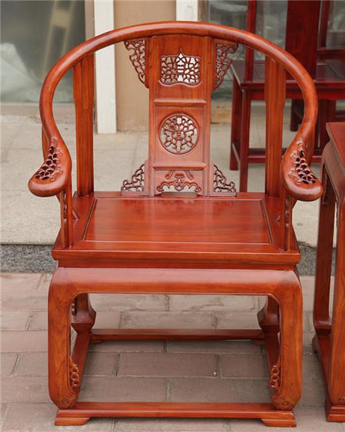 西藏老榆木太师椅圈椅三件套种类齐全