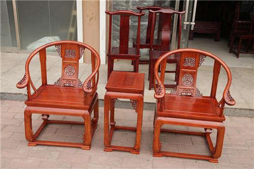 湖南老榆木圈椅三件套厂家批发