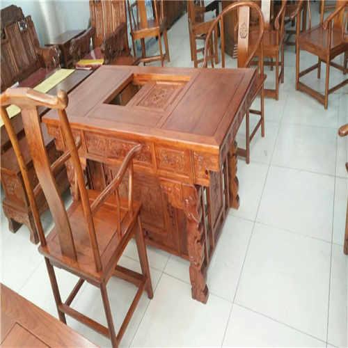 安康明清古典榆木办公茶台 低于商场40%