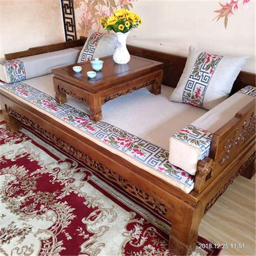 吉安榆木古代床榻贵妃榻明式家具典范