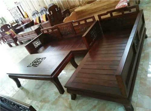 西藏老榆木雕花中式现代罗汉床支持全国材质鉴定