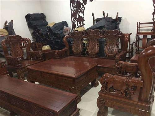 乐山复古罗汉床榆木家具一件也是批发价格