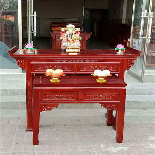 海南挂式佛龛佛台红木茶台