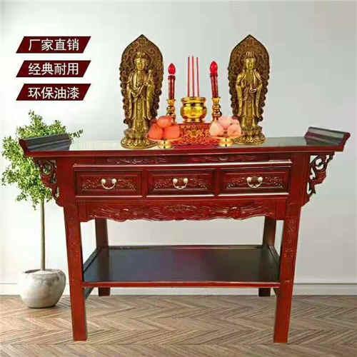 湖南财神爷贡桌设计美观