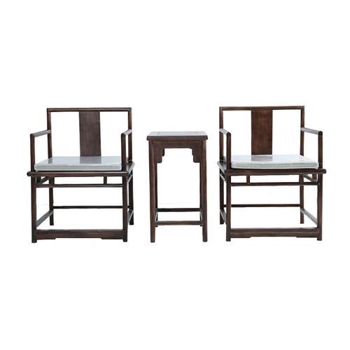 锦州新中式实木围椅榆木仿古家具