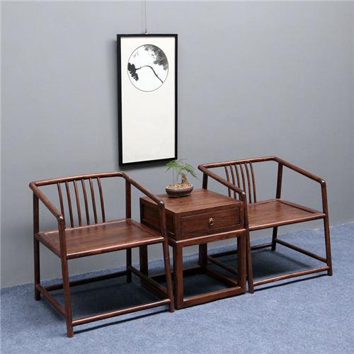 西藏新中式实木餐椅仿古硬木家具