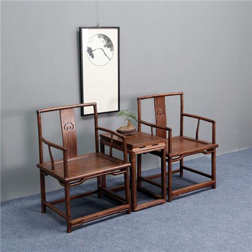 海南简约实木官帽椅圈椅设计美观