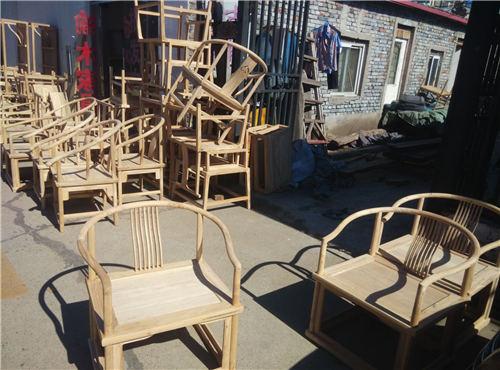 海南新中式实木方梳椅商业家具