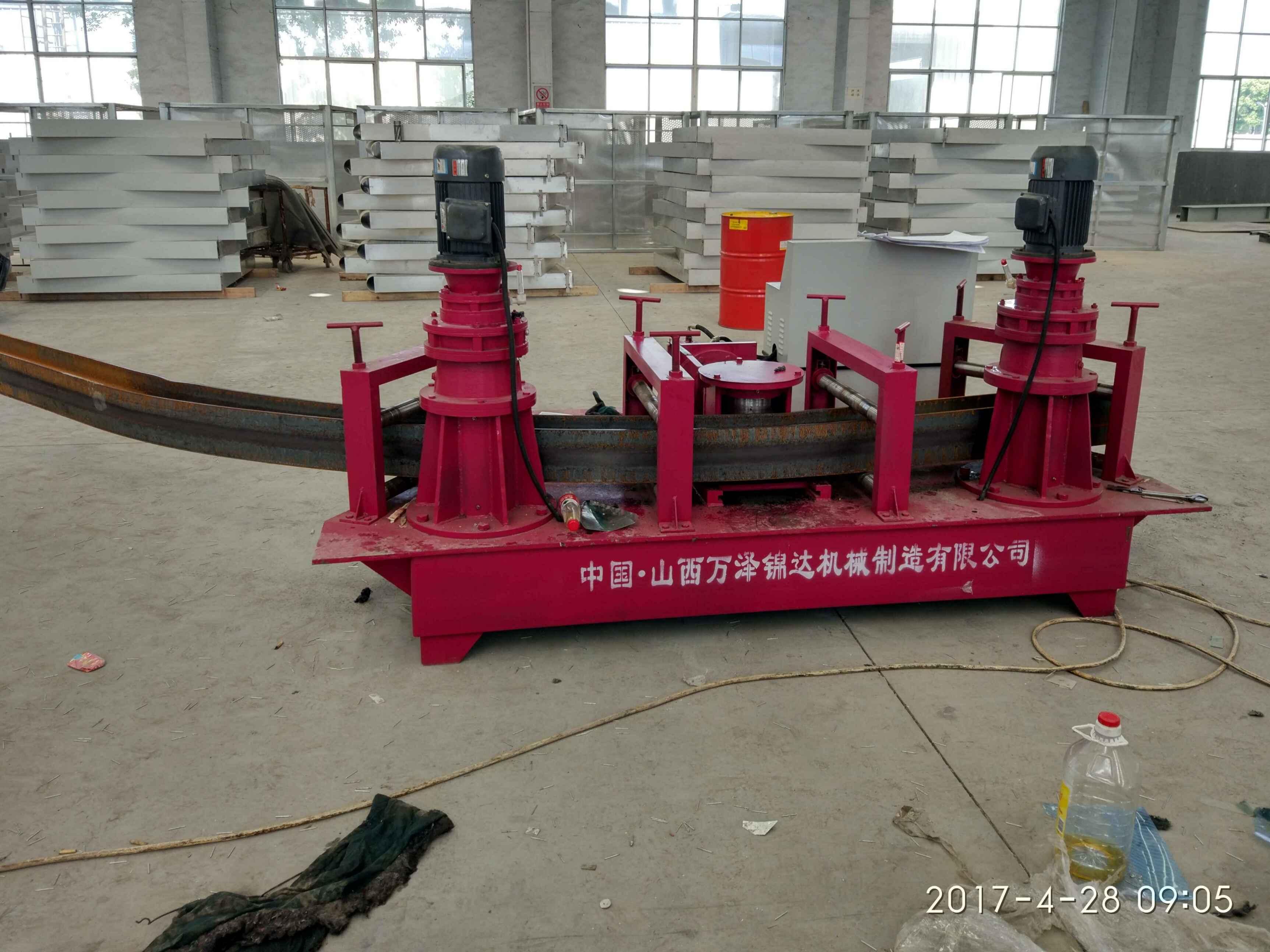 四川阿坝厂房H型钢用液压H钢弯拱机