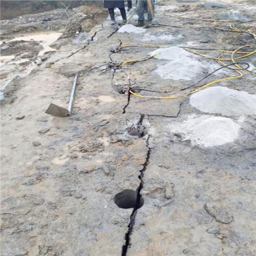 紫阳采石场破硬石头的机器岩石劈裂机综分解本