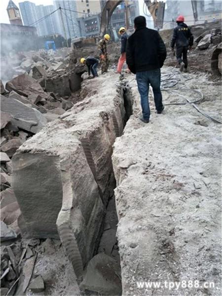 石家庄工程碰到岩石不能放炮怎么办