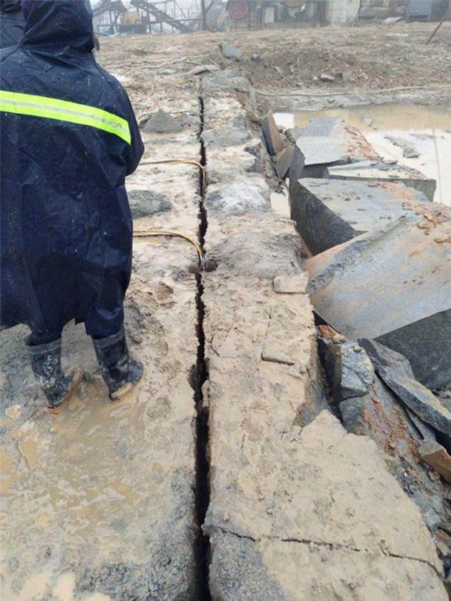 长沙房屋基础挖掘青石裂石器多少钱省时省人工
