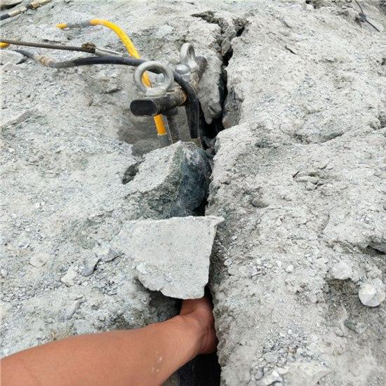 黔西南兴义拆除水闸破硬石头的液压劈石机