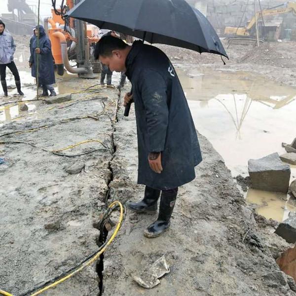 坚硬石头破开分裂石头设备香河