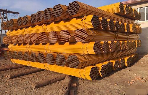 黑龙江建筑工地用来搭架子的钢管