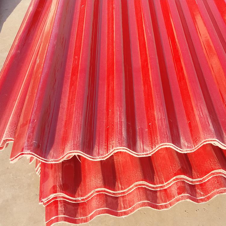 海口钢结构玻璃纤维防腐瓦 采光板生产厂家
