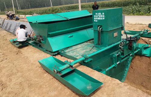 安康水渠一次现浇机低配机器效果