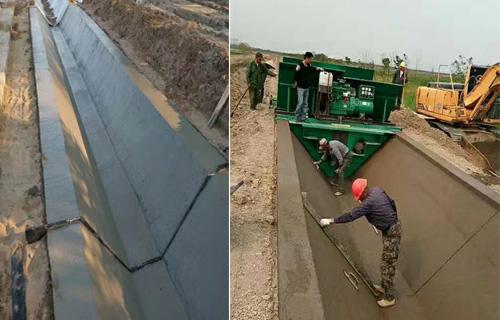江西梯形水渠成型机 全自动边沟混凝土成型机