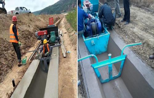 湖南农田改造项目 高效率水渠成型机