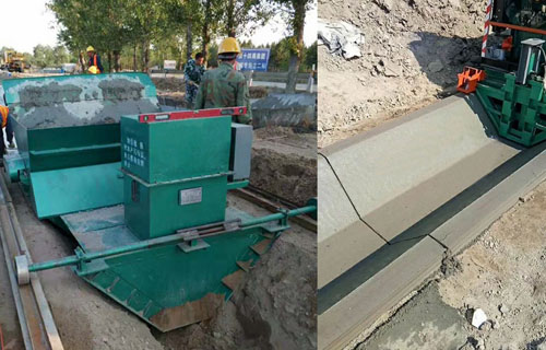 安庆U型水渠成型机 自走式边沟混凝土成型机