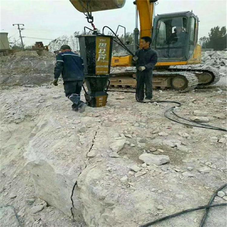 新余分宜砂石厂开采石头代替  大型劈裂棒开山机