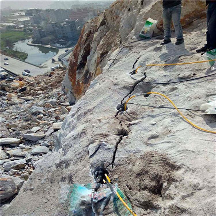 和县挖地基破裂石头用愚公斧裂石机工程方案