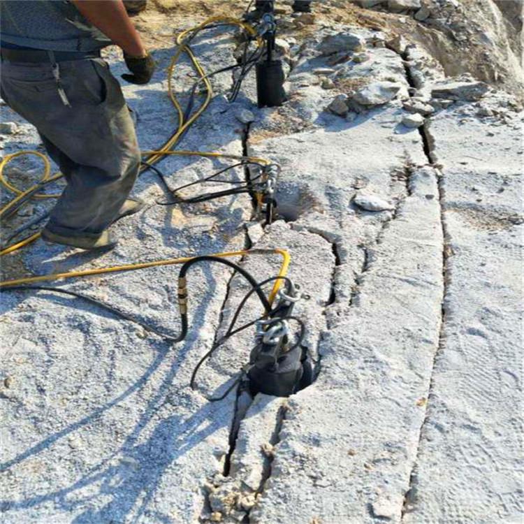 东营挖基础地基破碎青石用液压劈裂棒指导报价