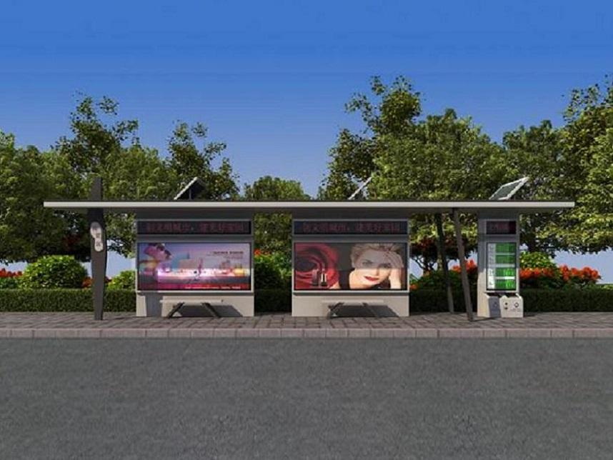 临沂公交站台站台垃圾箱一体化生产销售厂家