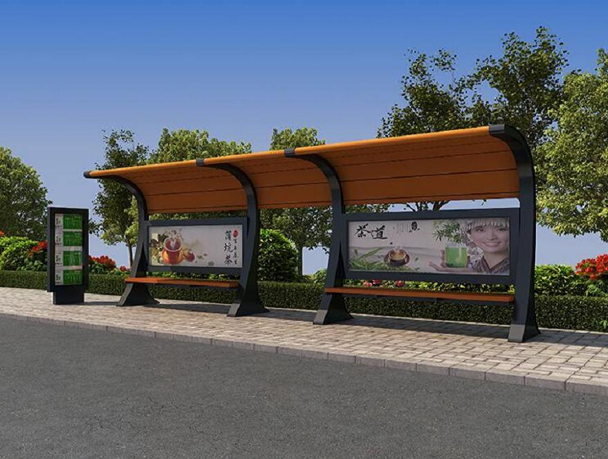 长沙中国红仿古公交站台超低价格