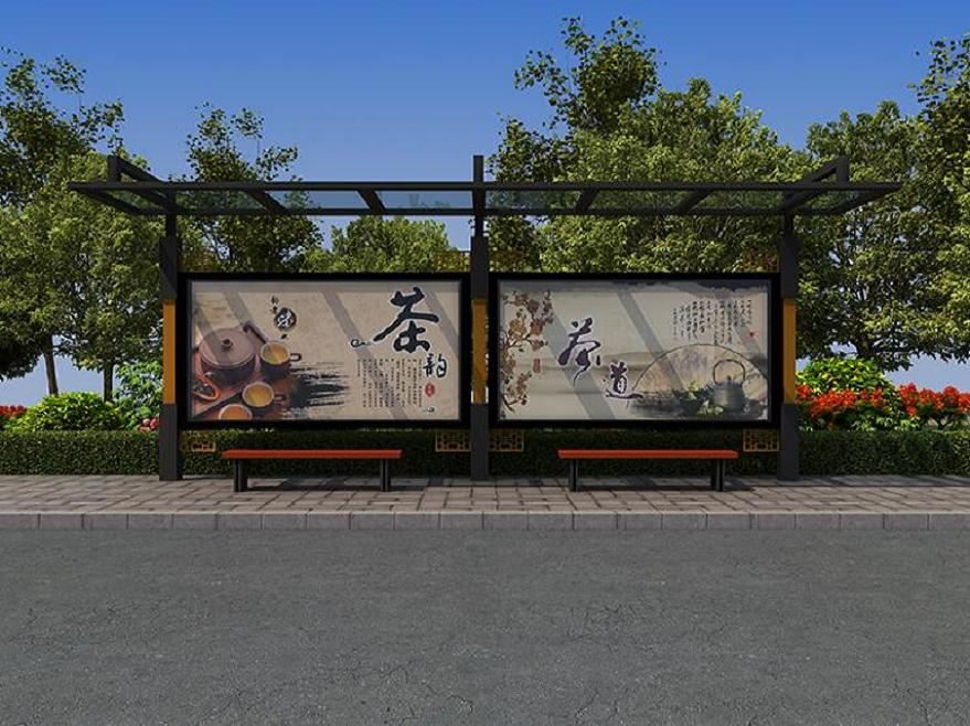 锦州型材候车亭不锈钢站台系列设施采购