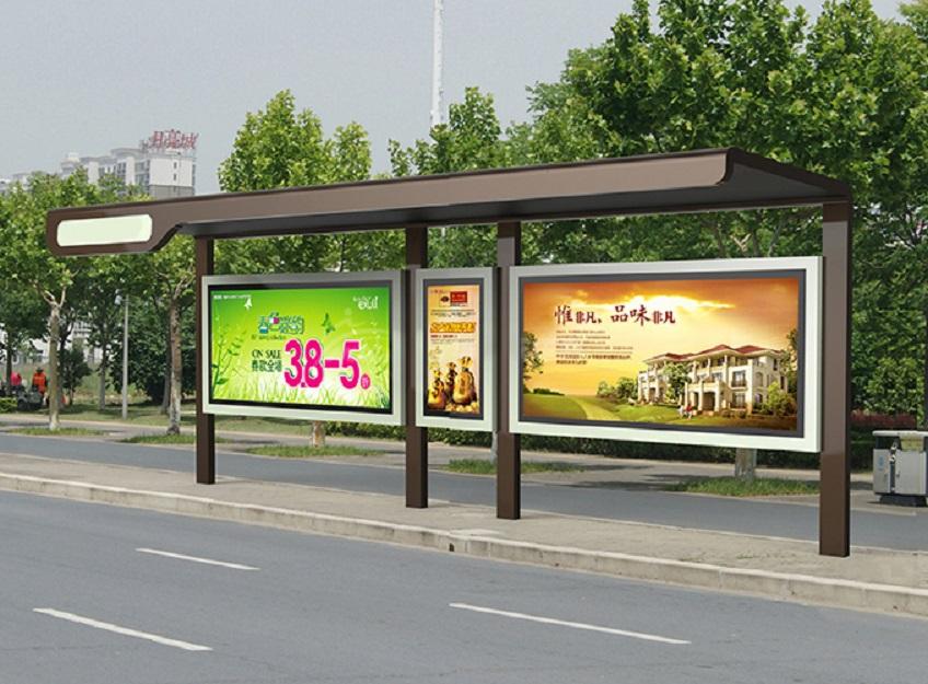 临沂双面滚动候车亭公交停靠站一体化生产销售厂家