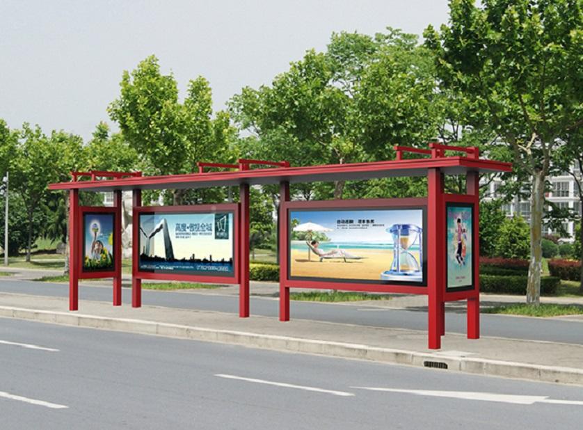 黔西南公交候车亭不锈钢站台宣传栏厂家报价