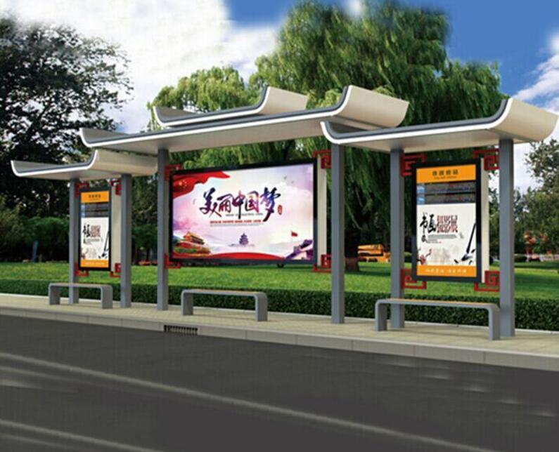 洛阳公交站台候车亭滚动灯箱一体化生产销售厂家